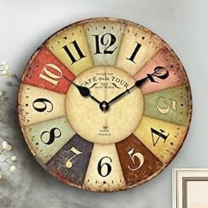 Eruner Wooden Paris Wall Clock